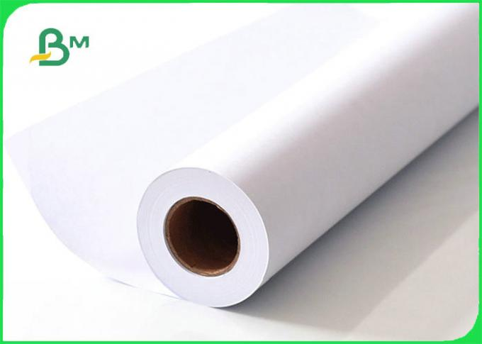 80gsm CAD Inkjet Plotter Paper Roll For Engineering Drawing 24inch 36inch * 50m