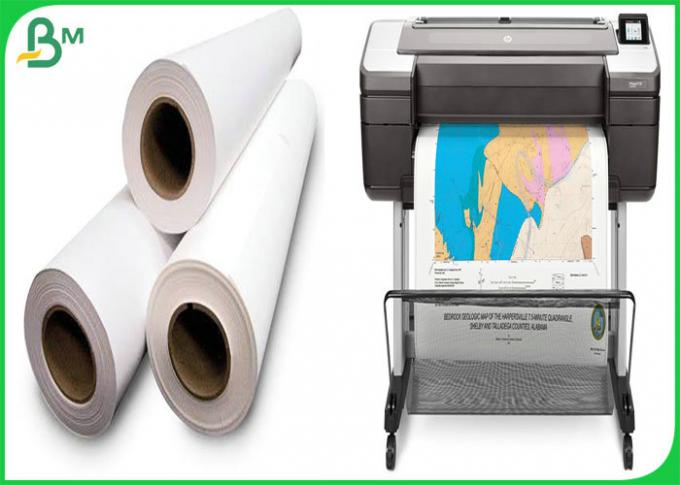 24inch 36inch*50m 80gsm Inkjet CAD Plotter Paper Roll For Engineering Drawing
