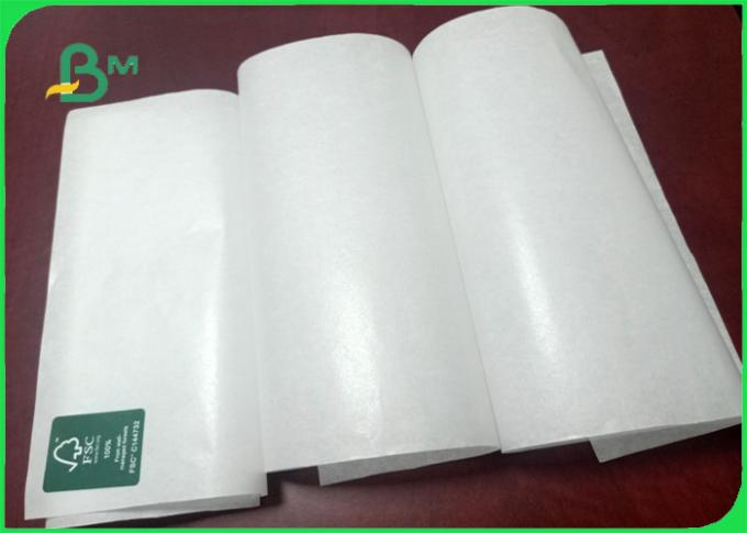 35gsm Good breakage resistance green security  Mg white kraft paper for packing