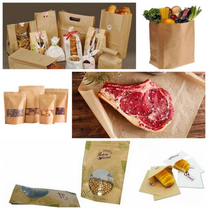 FDA Approved 60gsm 70gsm Brown Coated Butcher Paper Roll For Wrapping Meat
