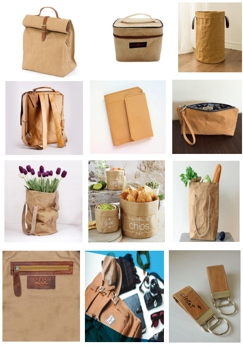 Water Resistance Reusable Colorful Washable Kraft Paper For Storage Bag
